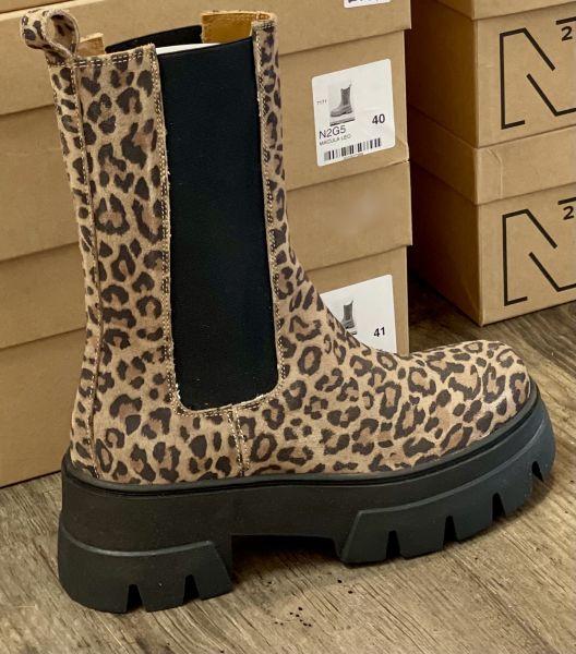 ENNEQUADRO Ankle Boots Leoprint