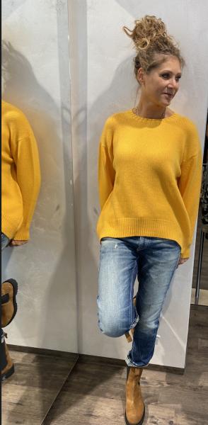 WHITE T Kaschmir-Pullover orange