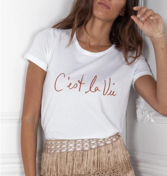 """QUANTUM COURAGE T-Shirt """"ce la vie"""""""