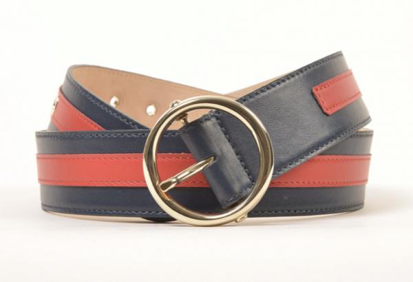 N.D.V. Gürtel im Gucci-Style Blau/Rot